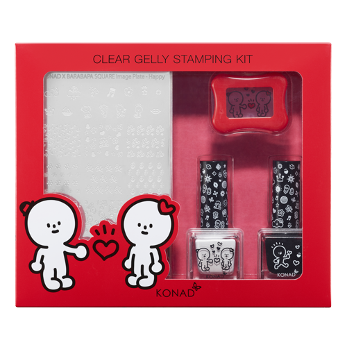 32_Stamping set-Clear Jelly Stamping Kit - Happy